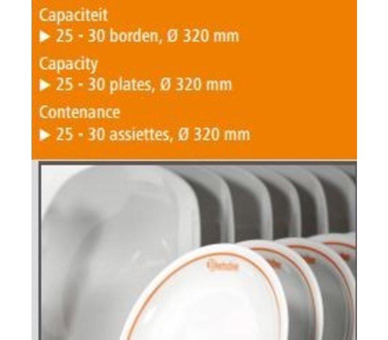 Bartscher Plate warmer 25-30 Borden - 0.4 kW - 45x40,5x (h) 54,5cm
