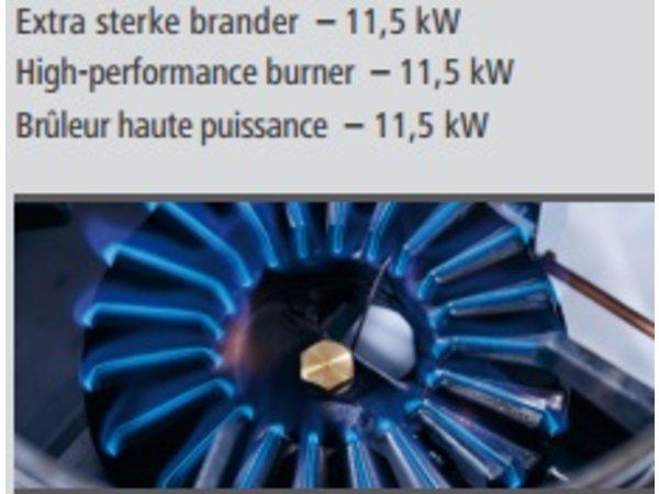 Bartscher Gas Wok Tischplatte | Edelstahl | Einstellbare Füße | 400x600x (H) 415mm