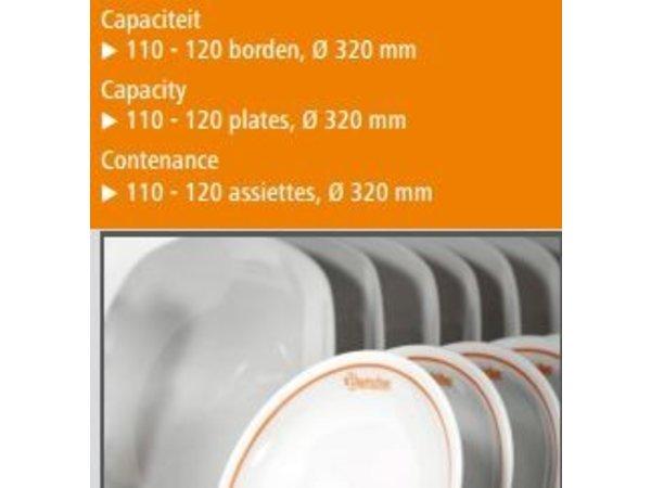 Bartscher Tellerwärmer Edelstahlplatten 110-120 - 1,2 kW - 75x51x (h) 85.5cm