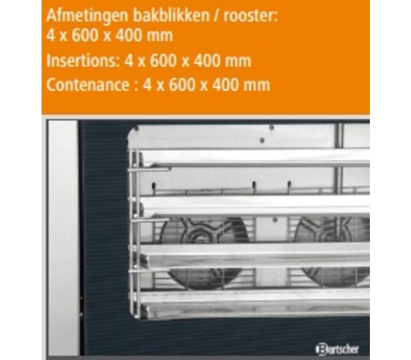 Bartscher Bäckerei Afbakoven AT400 Fluidinjektion - 835x800x570 (h) mm - 4 x 600x400mm