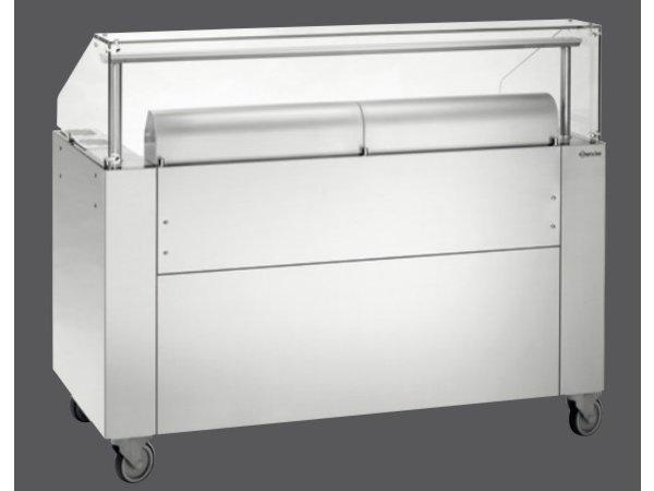 Bartscher Mobiel Kookstation   Met Glasopzet   LED Verlichting   1500x755x(H)1260mm