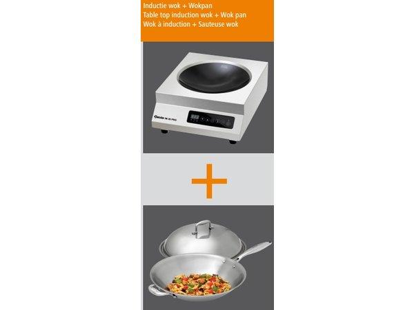 Bartscher Induction wok set IW-35 PRO - 35,5x43,9x (h) 16.7 - 3500W / 230V
