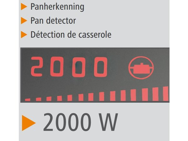 Bartscher Induktions-Herd - Glas-Kochfeld - 8 Institutionen - 33x34x (h) 6cm