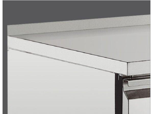 Bartscher Ventiladed refrigeraded counter with splashback 50 mm