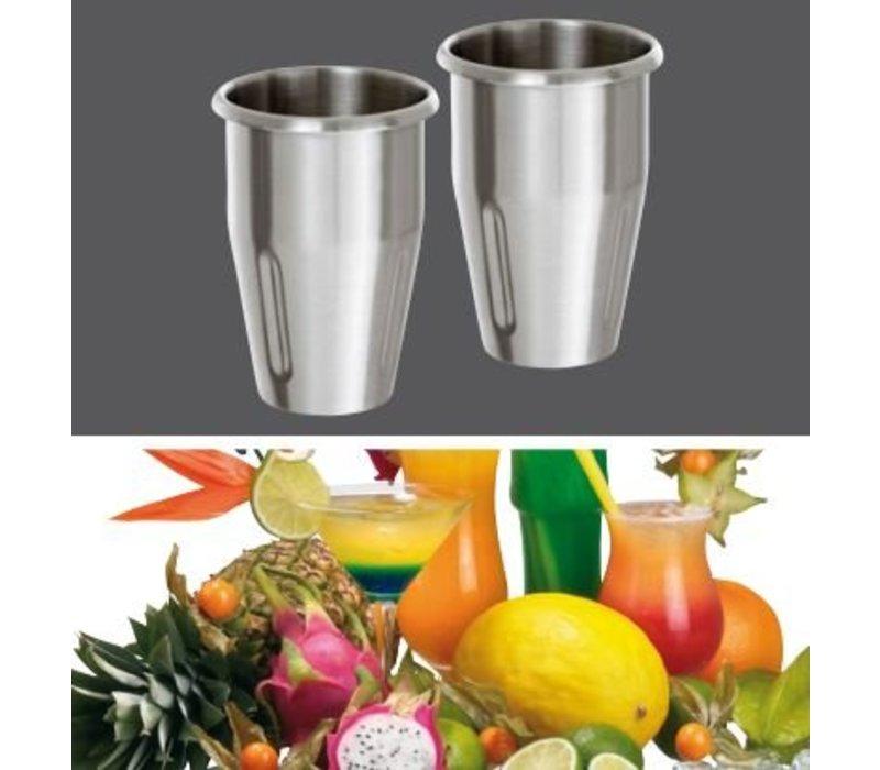 Bartscher Doppel Barmixer / Milk Shaker Turbo - 2 x 700 ml
