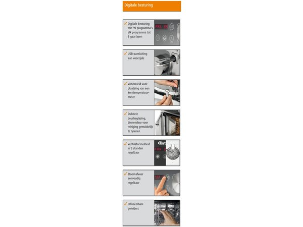Bartscher Combi-Steamer - 10 x 1/1 GN - 19 shelf levels - 52x85x (h) 101cm
