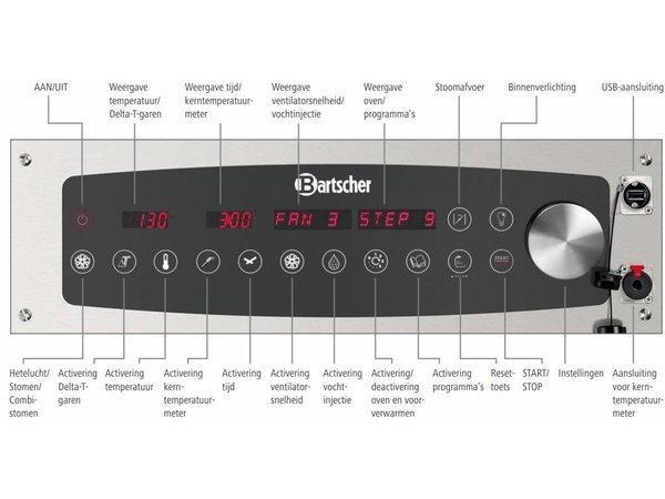 Bartscher Combi-Steamer - 10 x 1/1 GN - 19 Einschubebenen - 52x85x (h) 101cm