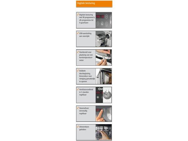 Bartscher Combi-Steamer - 6 x 1/1 GN - 11 shelf levels - 52x85 x (H) 77cm