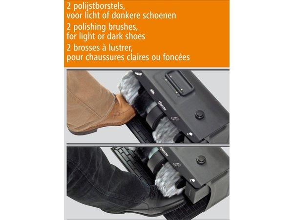 Bartscher Schuhputzmaschine SUPER DELUXE | 3 Bürsten | mit Griff | 400x240x260 (h) mm