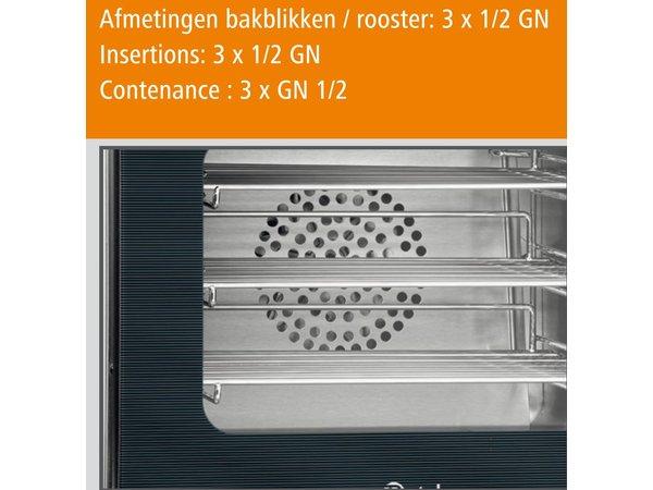 Bartscher Heißluftofen AT110 - 460x570x460 (H) mm - inkl 3 x 1/2 GN Netze.