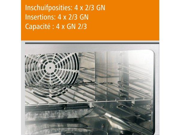 Bartscher Kompakt Kombidämpfer - 4 x 2/3 GN - 55x54,5x (h) 38cm
