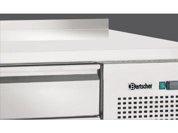 Bartscher Koelwerkbank - Edelstahl 9 x 1/1 GN Schubladen - 180x70x85cm - mit Grenze Spat