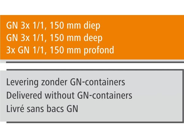 Bartscher Gastro Buffet T - Salatbar 3 x GN 1/1, 150 mm tief