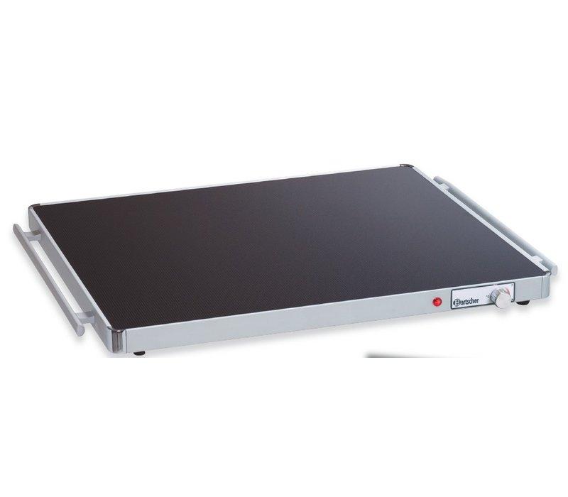 Bartscher Elektrische Warmhoudplaat - Glas - 2/1 GN 67x55x(h)4cm