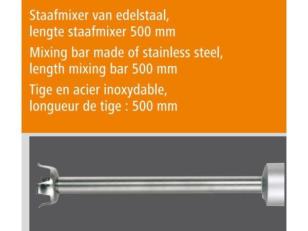 Bartscher Professionele staafmixer   2 Snelheden   17000 RPM   550W