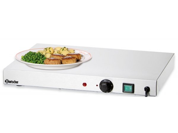 Bartscher Electric Hot Plate - Stainless Steel - 50x37,5x (h) 6,4cm