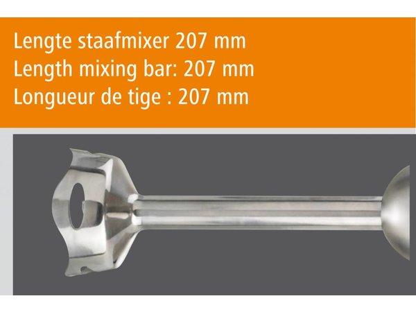 Bartscher Staafmixerset mit Garde 0,8 L + 2 Rutschfester Untersetzer + 1 Wandhalterung | 5 Geschwindigkeiten | 700 W