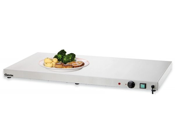Bartscher Electric Hot Plate - Stainless Steel - 100x50x6cm