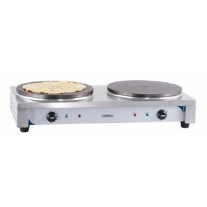 Casselin Double Crèpes Griddle | electric | 2x Ø350mm | 2 x 2.2kW | 770x400x190 (h) mm