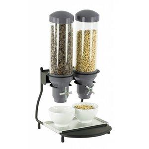 Casselin Cereal Dispenser Metal | 2 ABS tubes x 3 Liter | 300x390x640 (h) mm