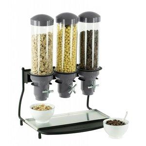 Casselin Cerealienspender Metall | 3 ABS Rohr x 3 Liter | 460x390x640 (H) mm