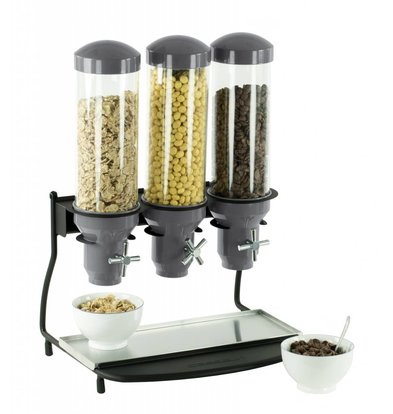 Casselin Cereal Dispenser Metal | 3 ABS Pipe x 3 Liter | 460x390x640 (h) mm