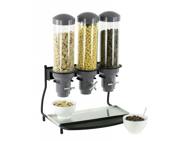 Casselin Cereal Dispenser Metal   3 ABS Pipe x 3 Liter   460x390x640 (h) mm