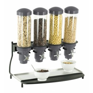 Casselin Cereal Dispenser Metal | 4 ABS Piping x 3 Liter | 600x390x640 (h) mm