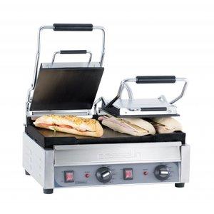Casselin Doppel Panini Grill Premium   Glatt / glatt   SS   2,9kW   490x520x265 (H) mm