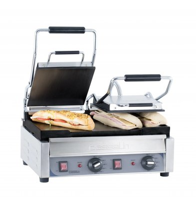 Casselin Double Panini Grill Premium | Smooth / smooth | SS | 2,9kW | 490x520x265 (h) mm