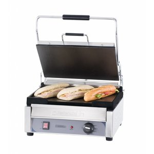 Casselin Panini Grill Premium GRAND | Smooth / smooth | SS | 2,4kW | 425x580x265 (h) mm