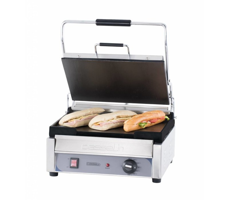 Casselin Panini Grill Premium GRAND   Smooth / smooth   SS   2,4kW   425x580x265 (h) mm