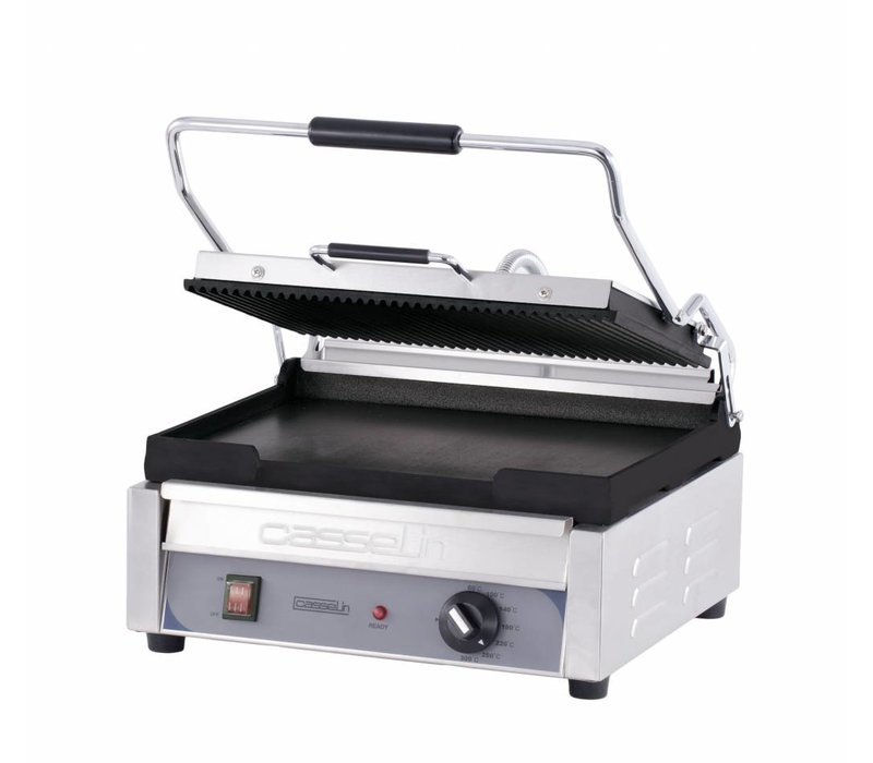 Casselin Panini Grill Premium GRAND | Ribbed / Smooth | SS | 2,4kW | 425x580x265 (h) mm