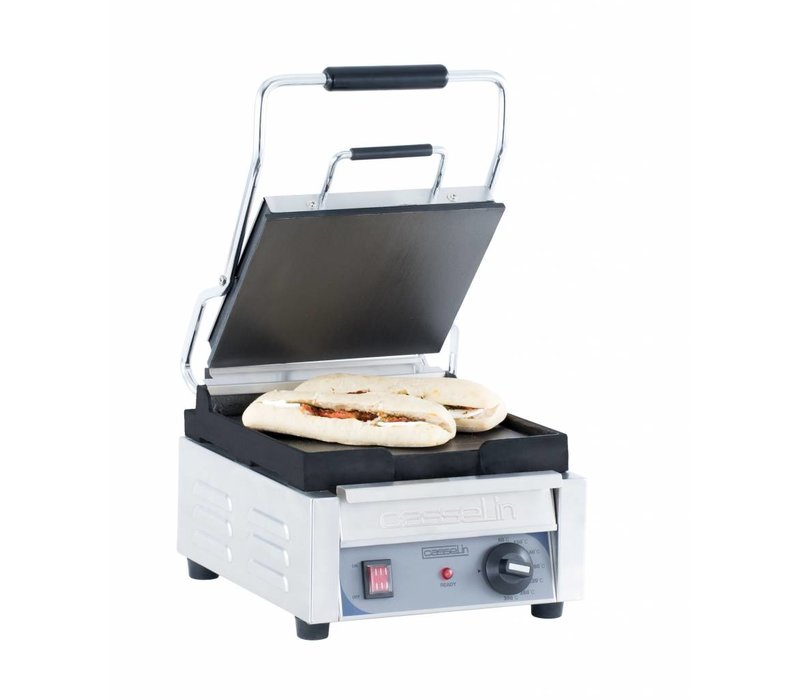 Casselin Panini Grill Premium SMALL | Smooth / smooth | 2kW | 300x490x265 (h) mm