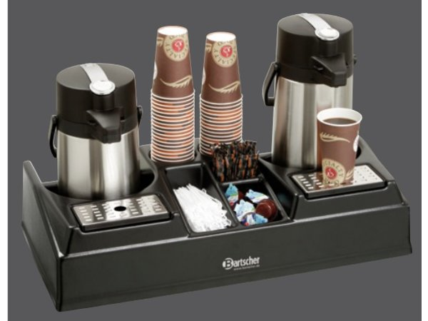 Bartscher Double coffee station for 2 pump thermos