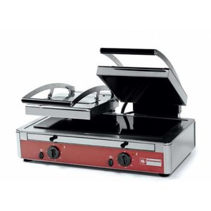 Diamond Double panini grill | Glass ceramic | 640x445x (H) 245mm | 3,4 Kw