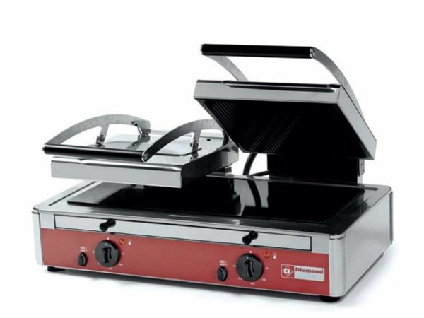 Diamond Double panini grill | Glass ceramic | 640x445x (H) 245mm | 3,4 Kw