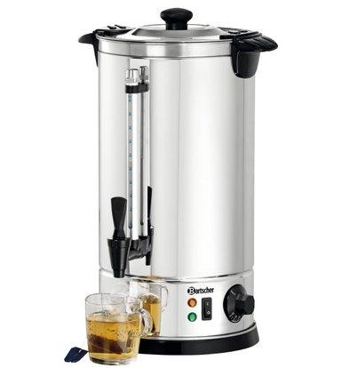 Bartscher Hot Water Dispenser Jacketed | 8.5 Liter | Chrome nickel steel | Ø225x (H) 470mm