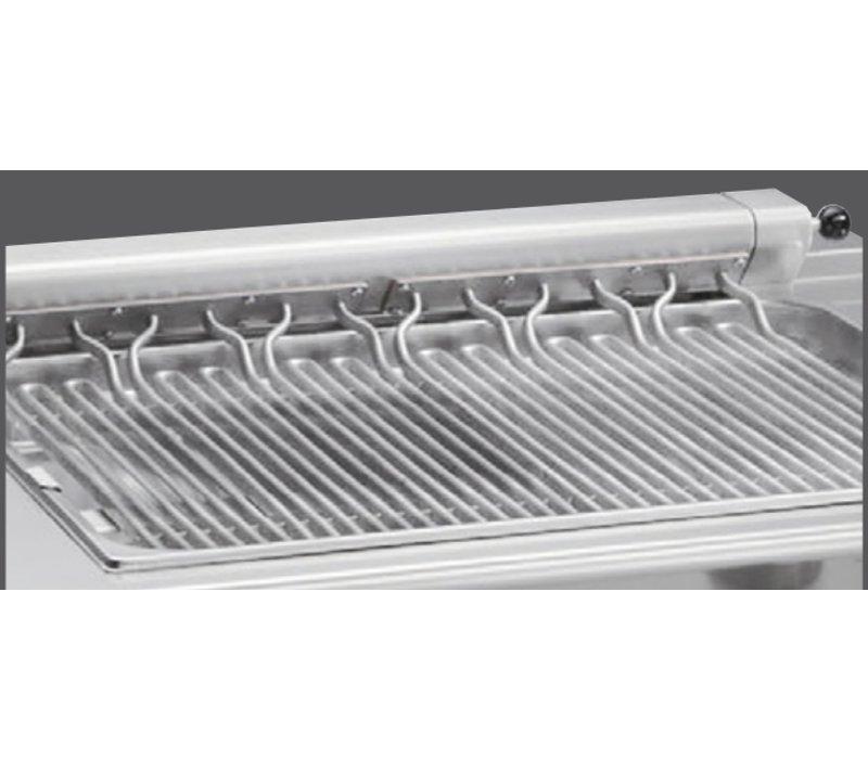 Bartscher Roostergrill elektrisch - 80x70x(h)85/90cm - 400V/8kW