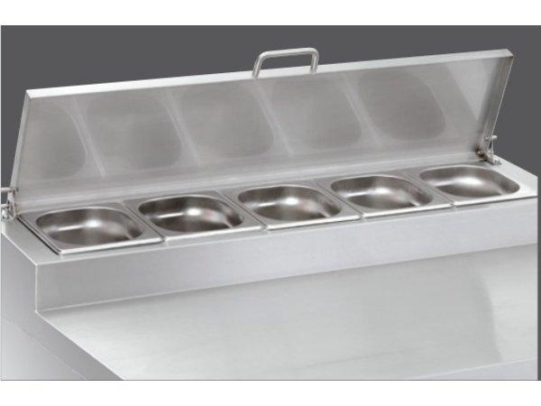 Bartscher Kühltisch mit Aufsatz 5x1/6GN