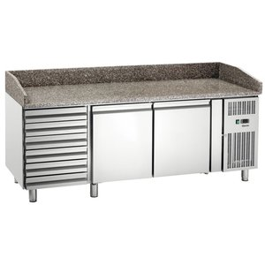 Bartscher Cool Workbench with Granite Worktop | Air-cooled | 2025x800x (H) 980-995mm