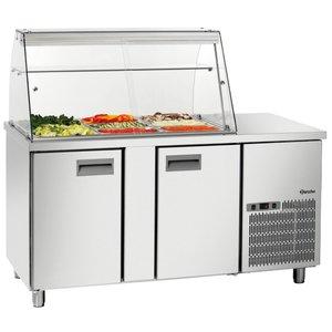 Bartscher Saladette 1535T2GLK | Luftgekühlte | Checkout with Wohnung | 390 Liter | 1535x700x (H) 1355mm