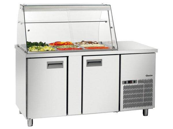 Bartscher Saladette 1535T2GLK | Air-cooled | Checkout with Flat | 390 Liter | 1535x700x (H) 1355mm