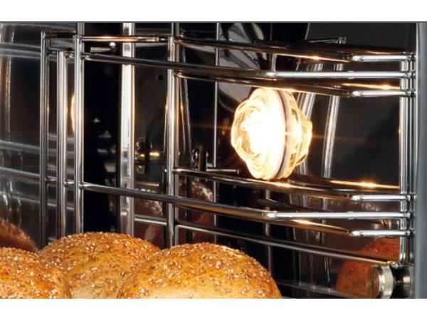 Bartscher Heteluchtoven met Stoomfunctie | Vaste Wateraansluiting | Binnenverlichting | 600x720x(H)540mm