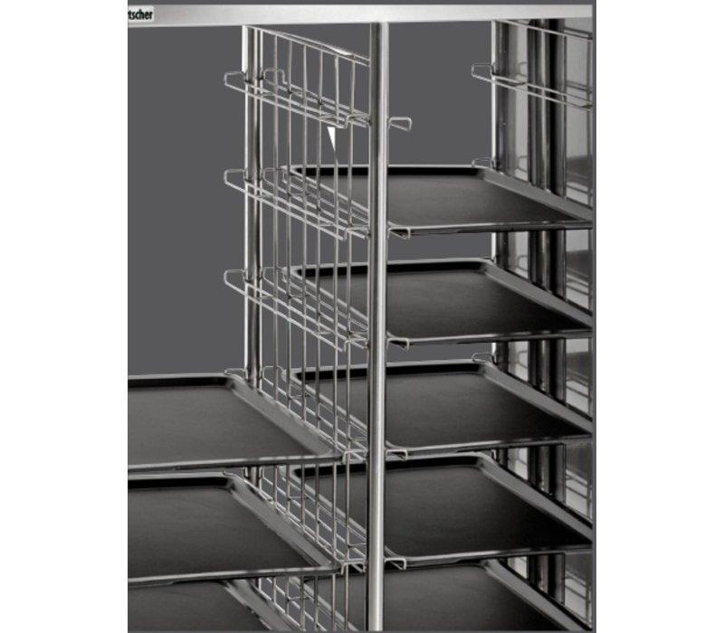 Bartscher Tablettwagen / Abräumwagen - für 2x8 Tabletts - 925x620x (h) 1700mm
