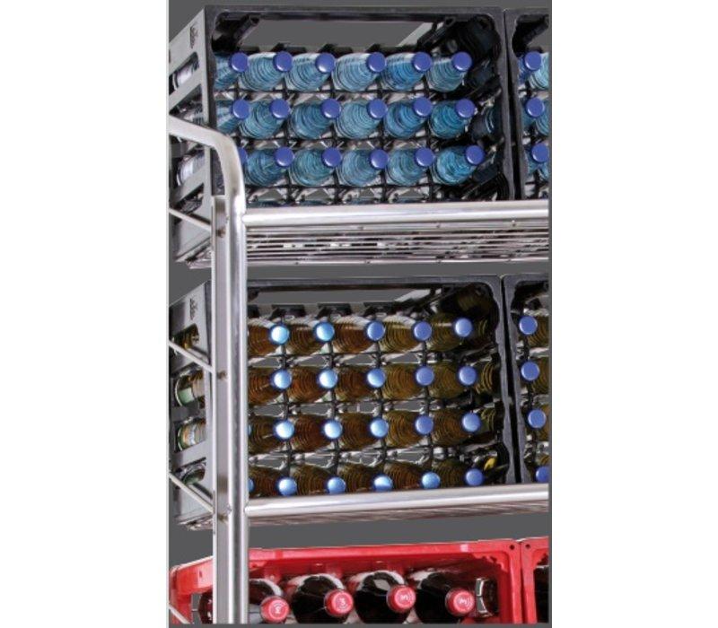 Bartscher Getränkekisten - Trolley - vier Ebenen -1080x570x (h) 1610 mm - 120Kg