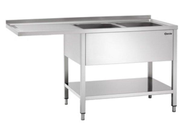 Bartscher Sink - two bins - 1600x700x850-900 (h) - Float Left draining - very luxurious Scotch-Brite Polishing