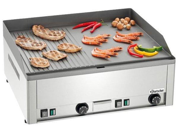 Bartscher Elektrische grillplaat, geribbeld/glad, 650x480mm