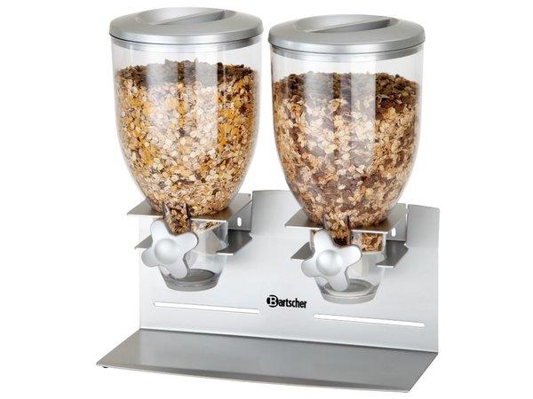 Bartscher Verdeler voor Ontbijtgranen | Dubbel | Inhoud 3,5 Liter | 360x170x(H)395mm