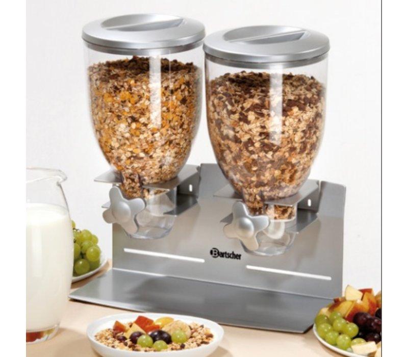 Bartscher Distributor für Frühstückscerealien | Doppelzimmer | Capacity 3,5 Liter | 360x170x (H) 395mm